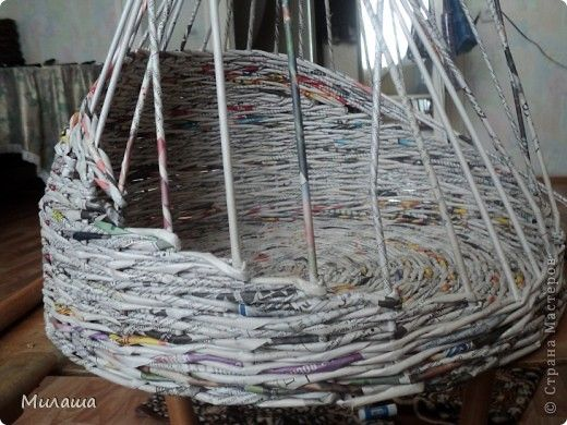 Мастер-класс Поделка изделие Плетение МК Кошкин дом Бумага газетная фото 5
