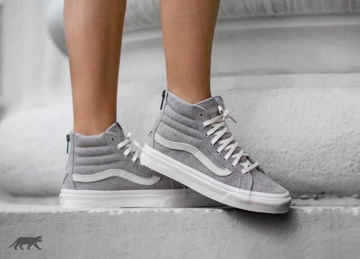 Vans SK8-Hi Slim Zip *Scotchgard* (Cool Grey / Blanc de Blanc)