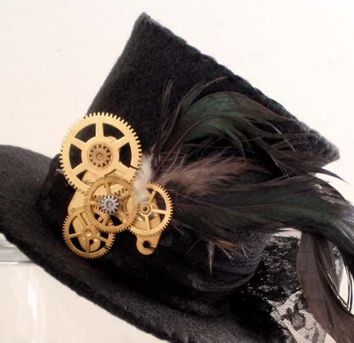 DIY mini top hat. The finishing touches are really what elevates this tutorial from the others.
