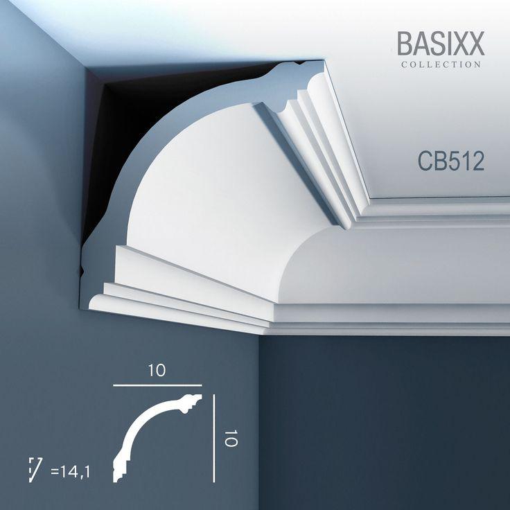 Corniche Moulure Cimaise Décoration de stuc ORAC Decor CB512 BASIXX  Profil décoratif du mur et du plafond | 2 m   22,75 €