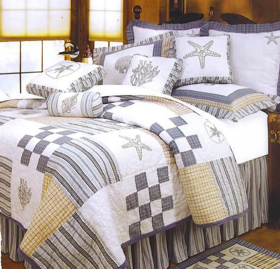 Seashell bedding sets nautical kid bedding nautical for Seashell bedroom decor