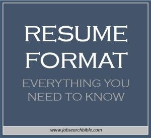 is your resume format that important your resume format can decide how quickly or - Deciding On The Resume Format