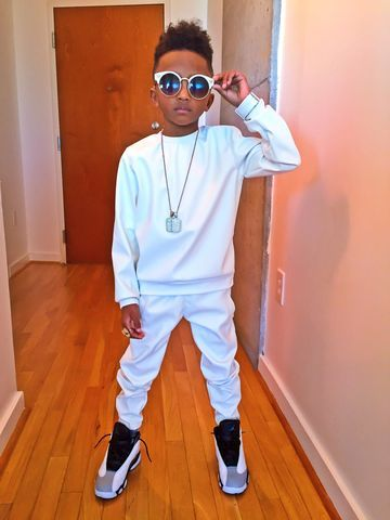 Quot East Coast Quot Winner White Leather Joggers Cool Boys