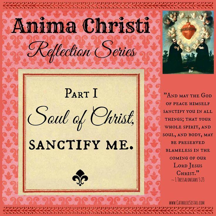 Anima Christi prayer reflection, line by line. A wonderful meditation on a wonderful prayer!