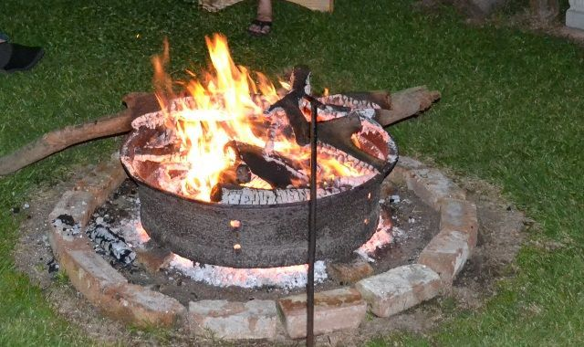 Tractor Tire Rim Fire Pit | The great outdoors | Pinterest ...