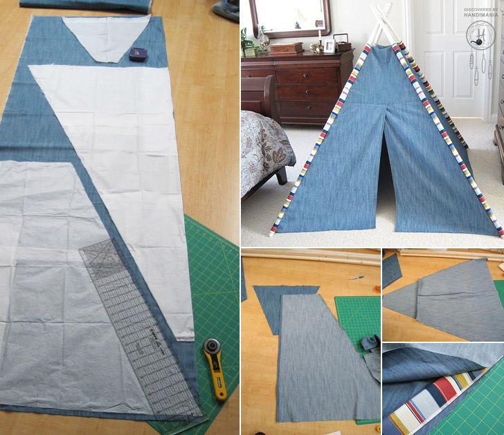 How to Make TeePee Tent for Kids - DIY & Crafts - Handimania