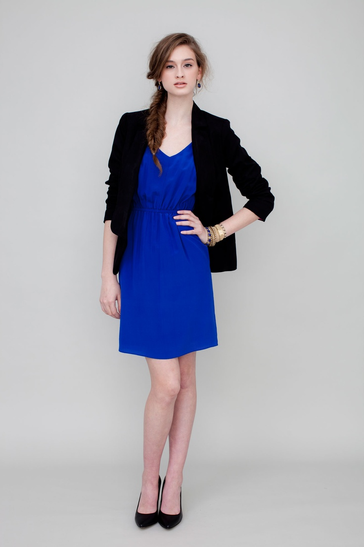 Emma Blazer-Black: perfect Fall layering piece. And it has hot pink lining!
