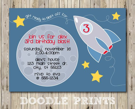 114 best Space images – Rocket Ship Birthday Invitations