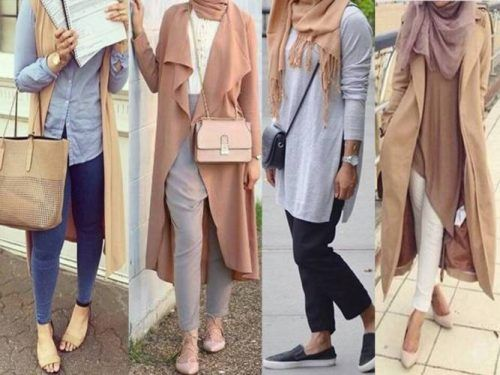 neutral hijab trend- Muslim women hijab trends…