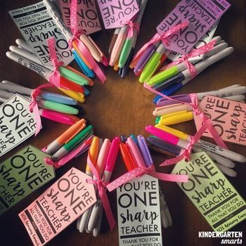 These tags are a perfect accessory for your Sharpie loving teacher friends! This make great gifts for teacher appreciation week, or just about any other day of the week! Teachers need lovin' too :) What's included:1 page of tags in black and white. They look perfect printed on colored paper!