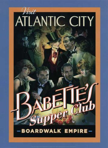 Boardwalk Empire - Babette's Supper Club Poster. We could take a group photo like this for posters!