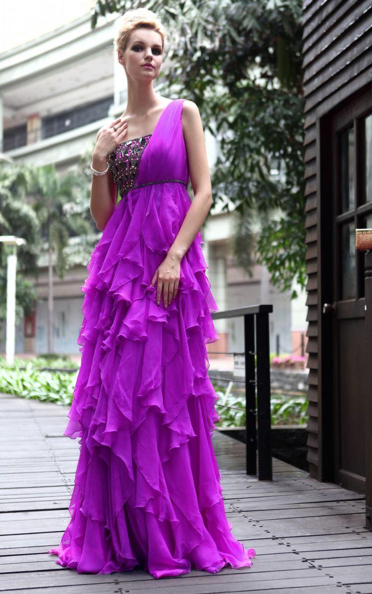 12 best purple dresses images on Pinterest | Party wear dresses ...