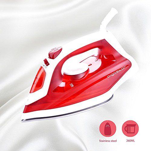 Aigostar Steel Red 31HGD-Plancha de vapor de suela de acero inoxidable, potencia de 1600W, control de vapor variable, sistema antigoteo y función de autolimpieza. Depósito de 260ml y color rojo. Diseño Exclusivo. #Aigostar #Steel #Plancha #vapor #suela #acero #inoxidable, #potencia #control #variable, #sistema #antigoteo #función #autolimpieza. #Depósito #color #rojo. #Diseño #Exclusivo.