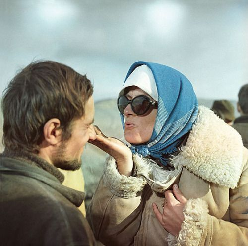 Larisa Shepitko on the set of You and I (1971).