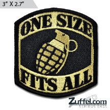 One Size Fits All Morale Patch - Express your individuality with our collection of Morale Patches, Embroidered Patches, Velcro Morale Patches, Tactical Morale Patches, Military Morale Patches, and Humorous Morale Patches! Put them on all of your gear: Hats, Jacket, Fleece, Vests, and Backpacks! Get it at http://zuffel.com/collections/morale-patches/products/one-size-fits-all-morale-patch