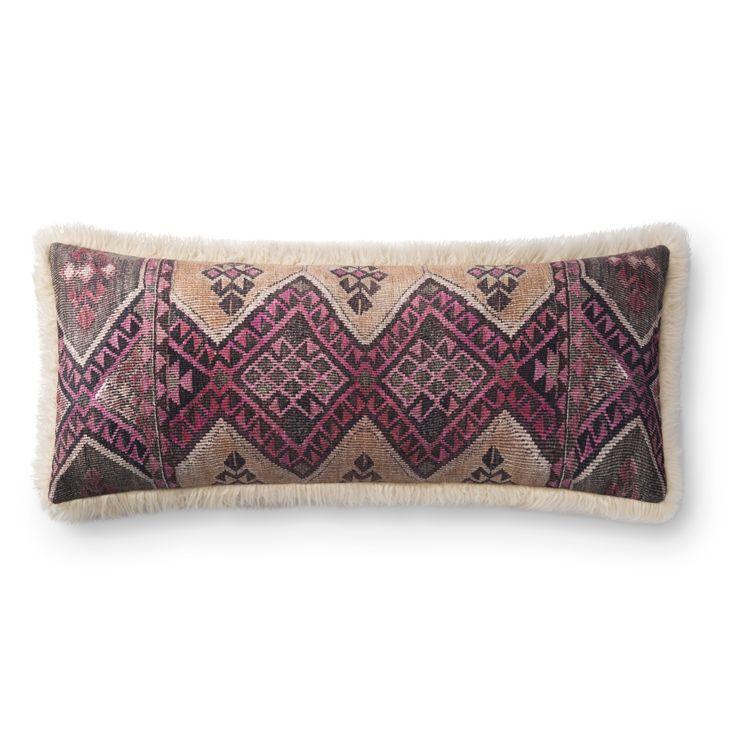 Lulu & Georgia Corinne Lumbar Pillow, Multi and Ivory