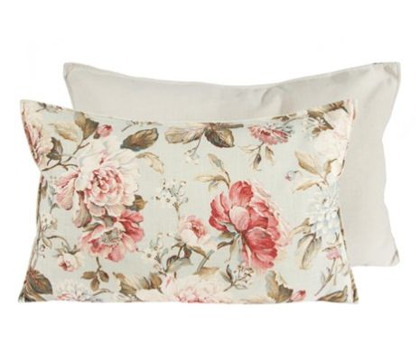 "Floral Pillow Rectangular 16"" x 26"" 