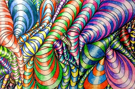 op art images with instructions