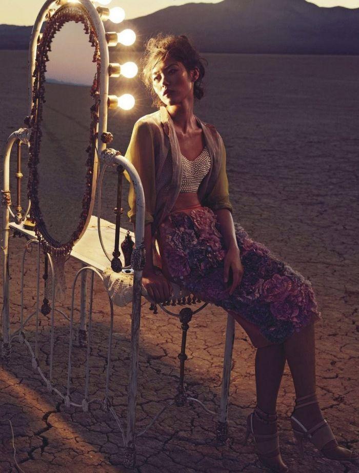 Insanely beautiful desert circus spread in Vogue Australia