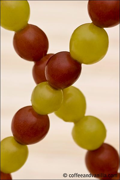 One of Spanish New Year's traditions are 12 grapes on a skewer for each month of the New Year.