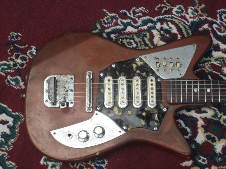 Vintage 1960's Grassi Customs 4 Pickup Electric Guitar Made in Japan RARE