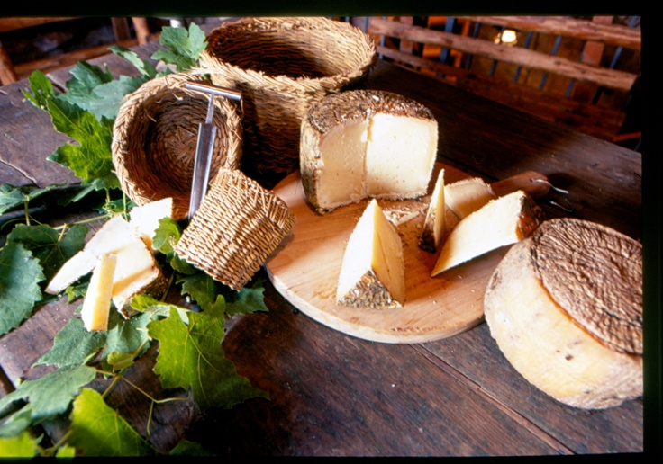 Pecorino Cheese of Filiano. Basilcata, Italy