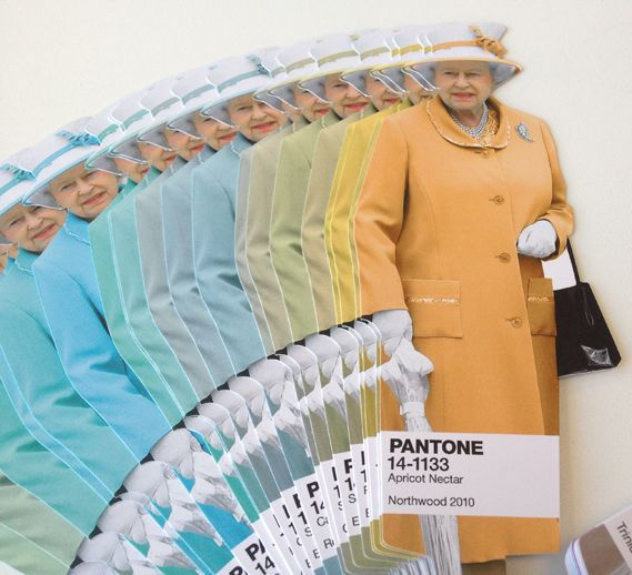 Diamond Jubilee Colour Guide by pantone, features colors the Queen actually wore...that is really cool!