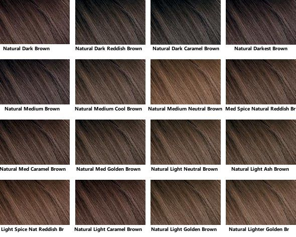 Brown Hair Color Chart