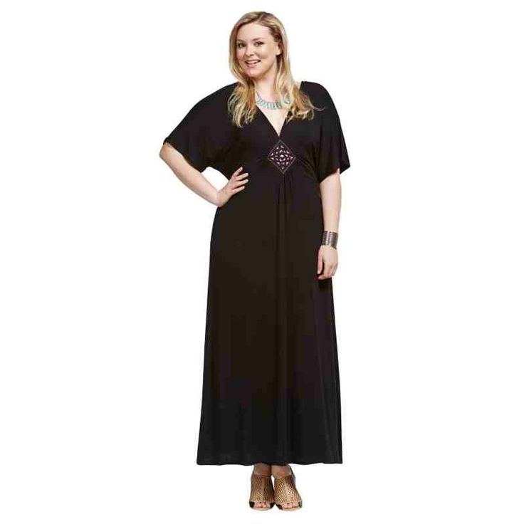 PRE-ORDER - Embroidered Maxi Dress (BLACK) $79.50 http://www.curvyclothing.com.au/index.php?route=product/product&path=95_104&product_id=6749