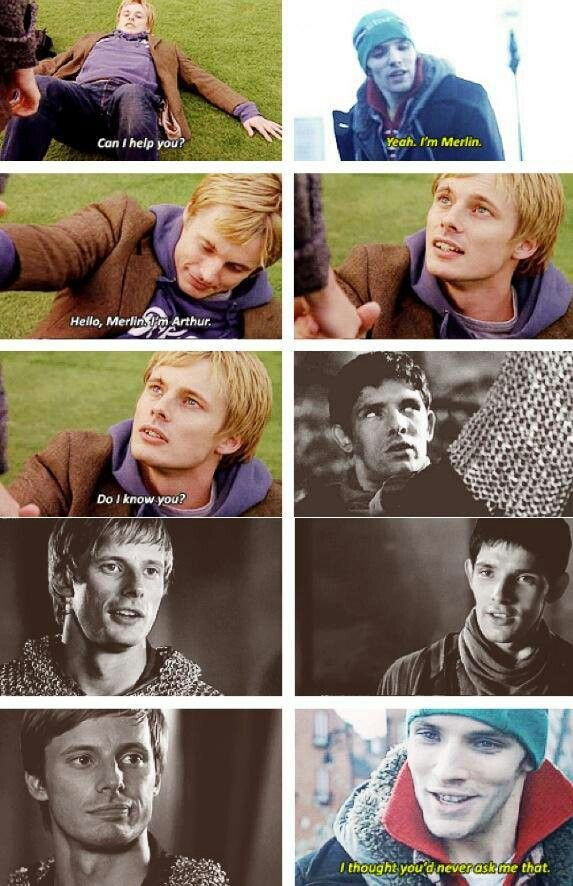 Why can we not have this, BBC? Why?!  bring back merlin!!! Revive Arthur in the modern times. I need this!