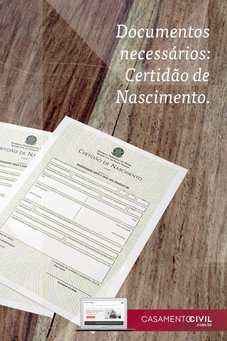 A certidão de nascimento é um dos principais documentos exigidos para dar entrada no casamento civil. Aqui falamos tudo sobre esse documento tão necessário.  https://www.casamentocivil.com.br/blog/documentos-necessarios-certidao-de-nascimento/?utm_campaign=coschedule&utm_source=pinterest&utm_medium=Casamento%20Civil&utm_content=Documentos%20Necess%C3%A1rios%20-%20Certid%C3%A3o%20de%20Nascimento