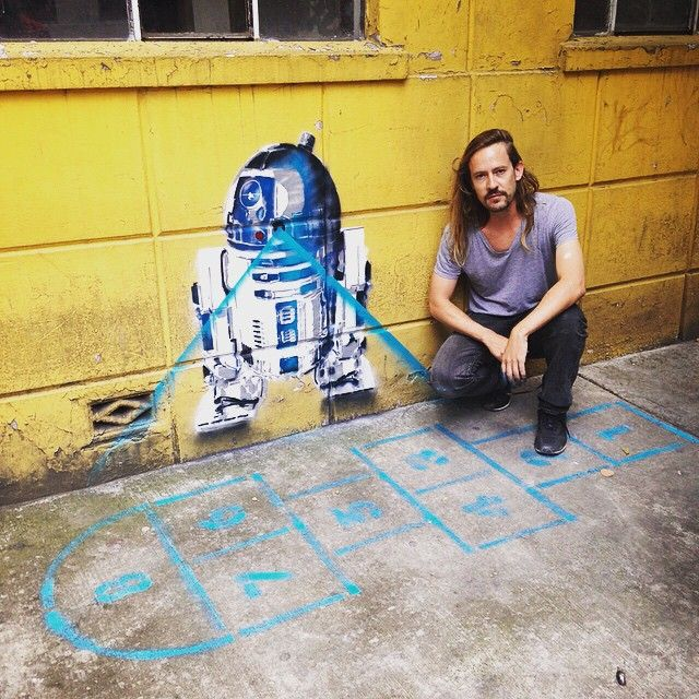 """""""This is the droid I was looking for el nuevo Estencil que me aventé con el @juicy_colors en la esquina de Thiers y Euclides en Polanco"""""""
