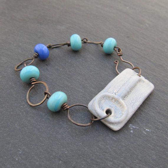 Key bracelet copper wire bracelet artisan bracelet by BeadyDaze, £28.00