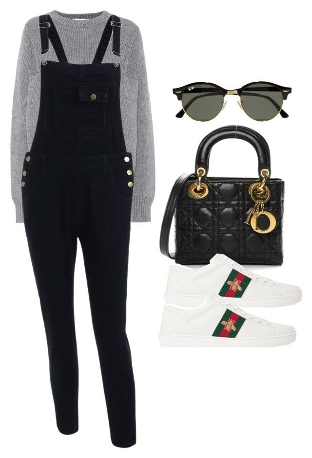 """""""Sin título #14400"""" by vany-alvarado ❤ liked on Polyvore featuring Victoria, Victoria Beckham, Christian Dior, Gucci and Ray-Ban"""