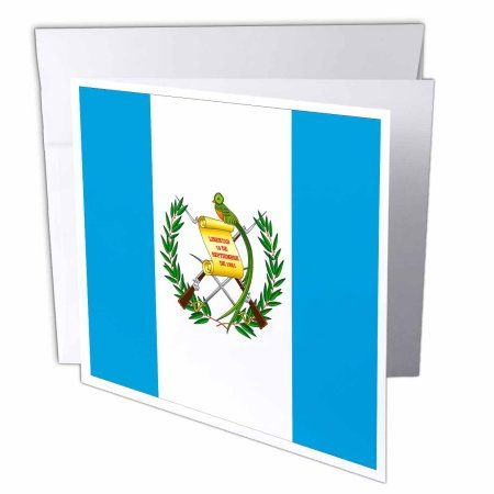 3dRose Guatemala Flag, Greeting Cards, 6 x 6 inches, set of 12