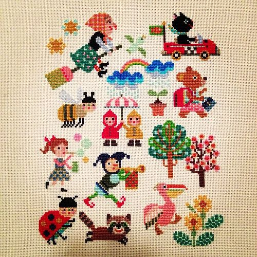 All sizes | My continuing cross-stitch obsession. Pattern by Gera. | Flickr - Photo Sharing!