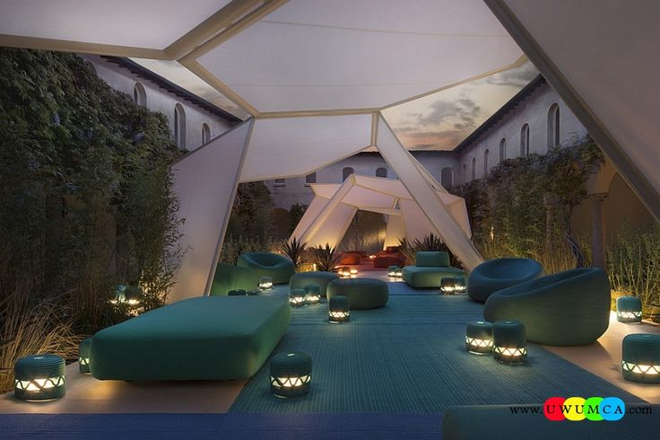 Outdoor / Gardening:Outdoor Design Trends 2014 Summer Furniture Decor Hot Tub Design Outdoor Sofa Chairs Cushions Table Ideas Backyard Lighting Landscape New Outdor Decor From Paola Lenti Newest Hot Outdoor Design Trends For Summer 2014