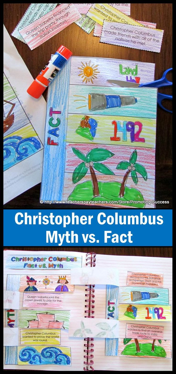 Who was Christopher Columbus? What are the facts? What are the myths? This interactive notebook lets your students examine history. Older students may conduct their own research. Younger students may use the information given.  Interactive notebooks are a great way to get students involved in a creative way.