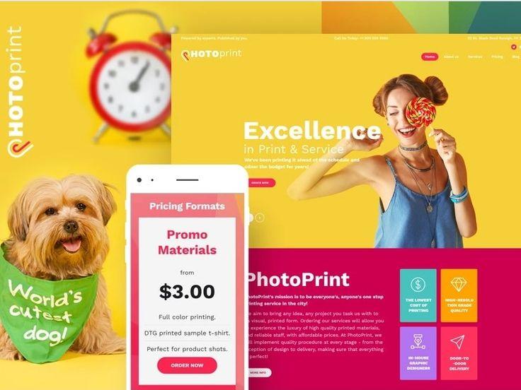 PhotoPrint - Print Shop Responsive WordPress Theme by TemplateMonster