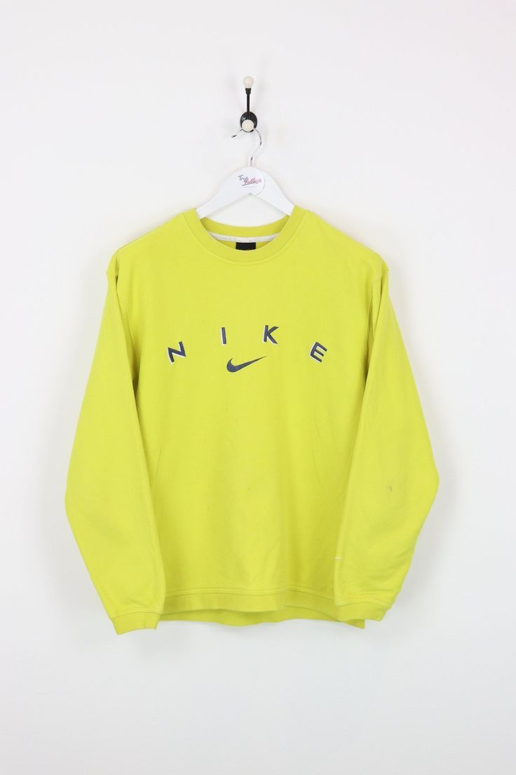 Nike Sweatshirt Yellow Medium Vendor Niketype Swe Condition Contact Fading Form Good Happy Hoodsprice Sweatshirts Yellow Sweatshirt Vintage Sweatshirt [ 1104 x 736 Pixel ]