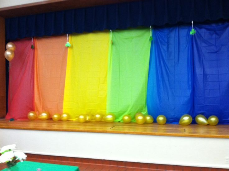 rainbow stage decoration diy crafts one day