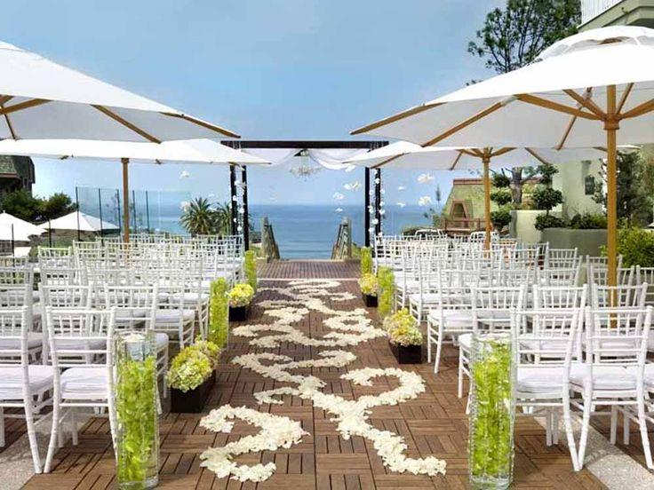 A beach wedding finale