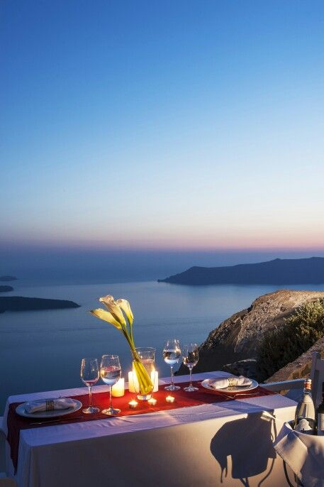 Time for a surprising treatment at your candle-light dinner... Leave it to the specialists and enjoy... (See more at http://www.gastronomysantorini.com and http://www.candlelightdinnersantorini.com)
