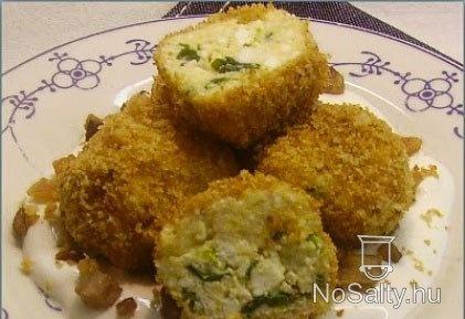 Ramson/ wild garlic cheese balls  Medvehagymás túrógombóc