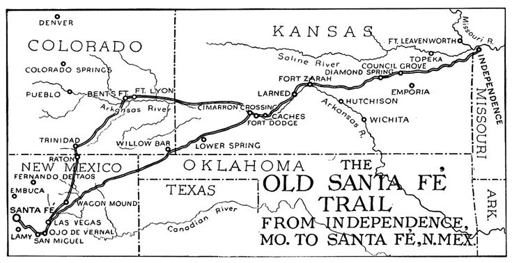 This is a map of the Santa Fe Trail, fathered by William Becknell.