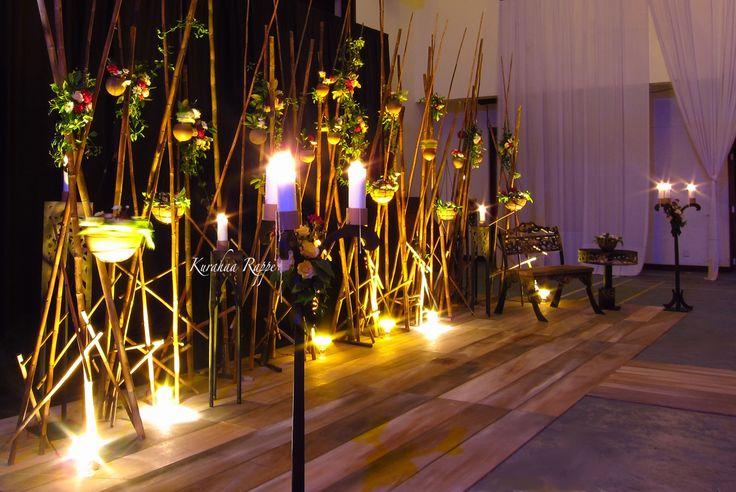 Kurahaa Rappe Bamboo Wedding Backdrop Light Decorations
