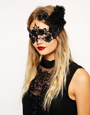 affordable accessories for an instant halloween costume halloween masquerade floral mask at asos - Halloween Costumes With A Masquerade Mask