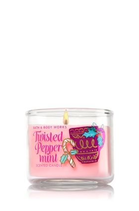 Twisted Peppermint Mini Candle - Home Fragrance 1037181 - Bath & Body Works