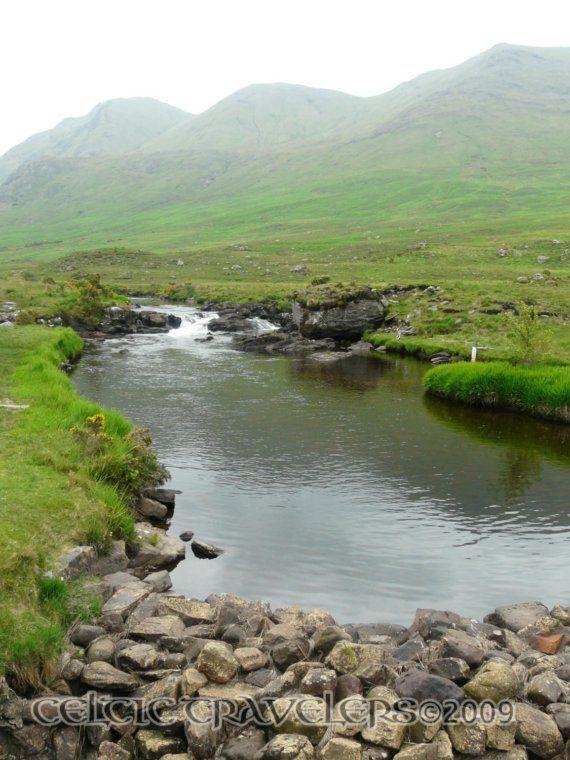 Meandering Stream in Connemara Ireland  8 x 10 by celtictravelers