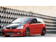 Other than the paint, love the mods to this 2002 Honda Civic Si Hatchback...